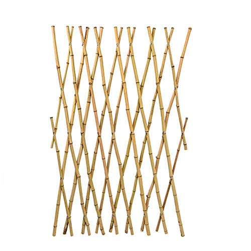 JIANFEI-Valla de jardín Valla de Madera Partición de jardín Borde de la Cama de Flores Planta de barandilla Cerca de bambú Extensible, 4 Tallas (Size : 60x180cm)