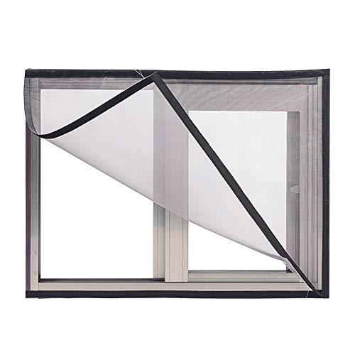 BASHI - Rete per finestra per la protezione del gatto, senza forare la rete della finestra, comoda rete semi-trasparente, nastro autoadesivo per finestra