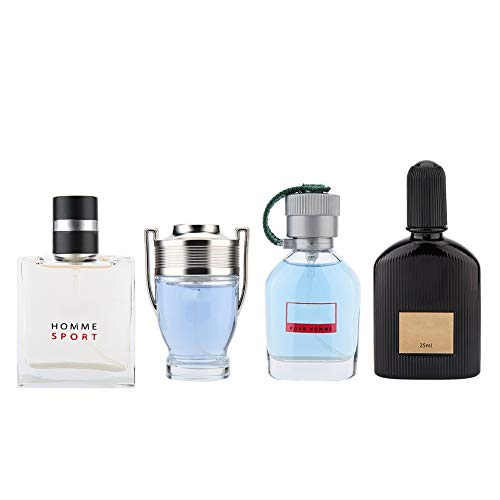 Set de fragancias para hombres, 4 x 25ml Gentleman Liquid Perfume Perfume de larga duración Spray natural Navidad Acción de gracias Cumpleaños San Valentín Set de regalo