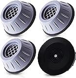 Qenovo® 4 cuscinetti per lavatrice e asciugatrici, con piedini anti-vibrazione, in gomma antiscivolo,...