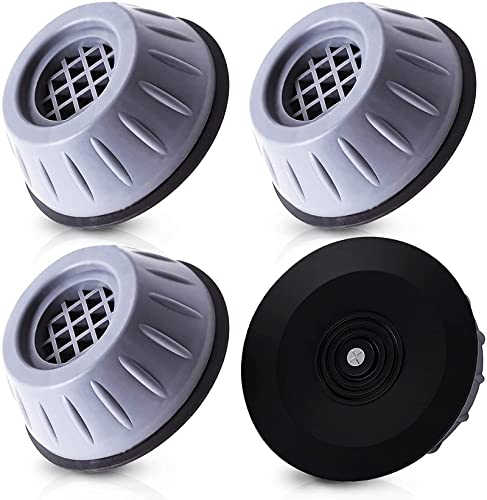 Qenovo® 4 cuscinetti per lavatrice e asciugatrici, con piedini anti-vibrazione, in gomma antiscivolo, ammortizzatori per lavatrice e asciugatrici