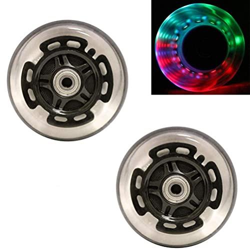 Wxnnx 2 Ruedas LED de 80 mm para Scooter - Ruedas de Repuesto para Scooter con rodamientos ABEC 9, Repuesto para Scooters Kick/Razor,B