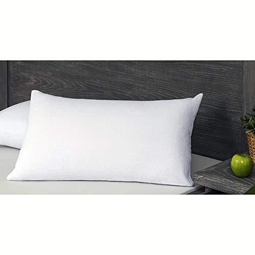 Velfont – Protector de colchón de suave esponja de bambú 100% – Impermeable e hiper-transpirable – Antiácaros (funda de almohada 50 x 80 cm)