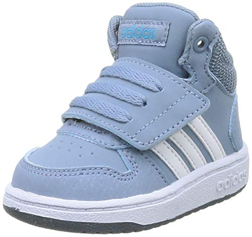adidas Unisex-Kinder HOOPS MID 2.0 I Sneaker, Azutac/Ftwbla/Azuleg, 24 EU
