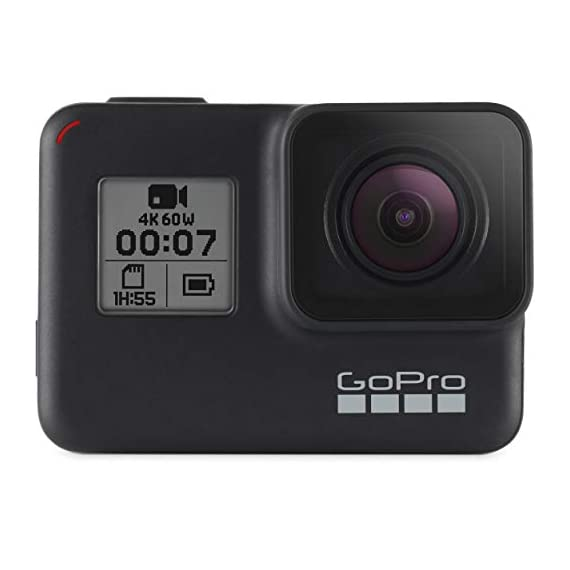 Gopro hero 7 (black) action camera w/dual battery charger and extra battery bundle 7 this k&m bundle includes all standard gopro accessories + limited 1-year warranty gopro hero 7 (black) action camera box includes: gopro hero7 black, rechargeable battery, the frame for hero7 black, curved adhesive mount, flat adhesive mount, mounting buckle, usb-c cable, limited 1-year warranty. Gopro hero 7 (black) action camera highlights: 4k60/50, 2. 7k120/100 & 1080p240/200, 12mp still photos with selectable hdr, hypersmooth video stabilization, direct live streaming to facebook live
