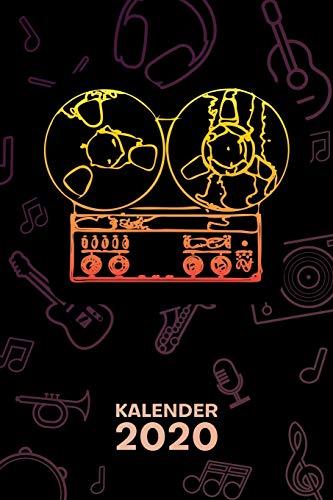 KALENDER 2020: A5 Party Terminplaner für Alte Schule mit DATUM - 52 Kalenderwochen für Termine & To-Do Listen - Tonband Terminkalender Olschool Technik Jahreskalender 60er Jahre