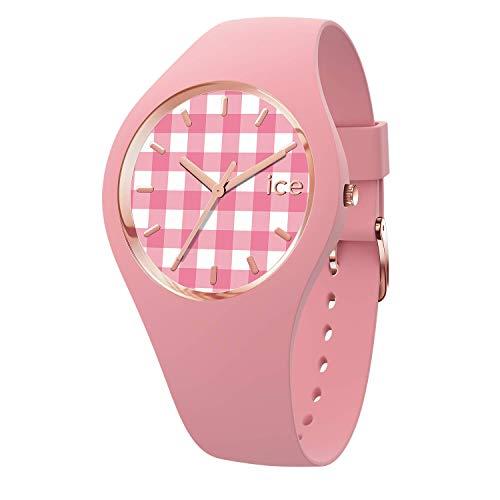 ICE-WATCH Ice Change Vichy Pink - Reloj Rosa para Mujer con Correa de Silicona, 016053 (Small)