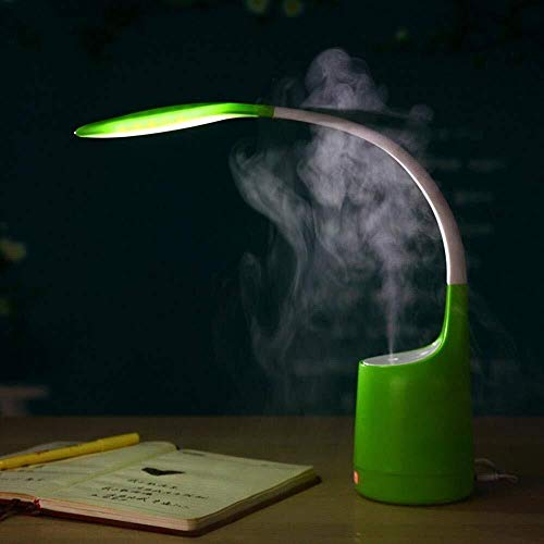 L.W.S Lámpara de Escritorio Lámpara Creativa, Minimalista, Industrial lámpara de Escritorio led/luz Nocturna LED con Brazo Flexible de 360 ​​°, protección for los Ojos, humidificador fragante for ca