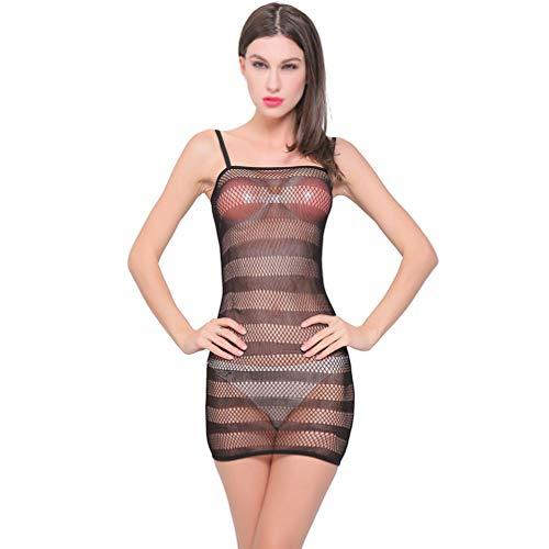 Exceart Durchsichtige Dessous Frauen Schiere Durchsichtige Gaze Crop Tops Sexy Durchsichtige T-Shirt Bluse Clubwears Pyjamas Sex Spielzeug für Erwachsene (Schwarz)