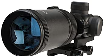 Centerpoint Optics 1-4x20 MSR Rifle Scope with Offset Picatinny Mount and Glass Reticle Black