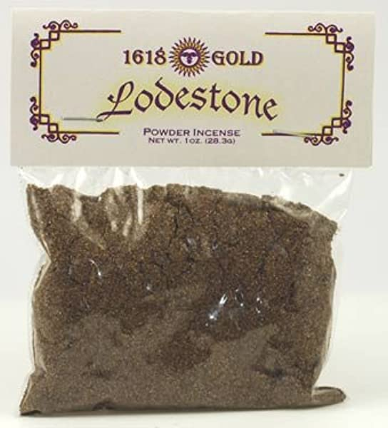 Sage Cauldron Lodestone Powder Incense 1618 Gold