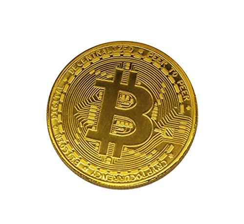 Bitcoin 24-Karat Gold Münze BTC Physische Sammelmünze