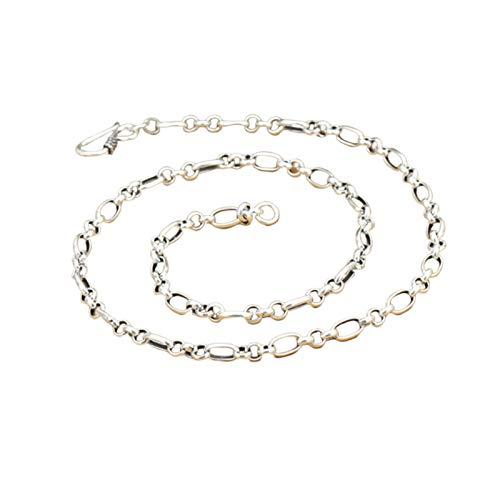 Daesar Collar Plata 925 Hombre Plata Cadena de Rolo Collar 5mm Collar 18 Inch