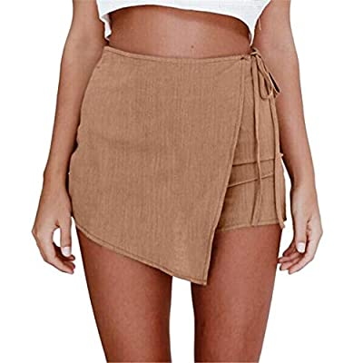 2019 Fashion!Women New Hot Pants Summer Floral Shorts High Waist Short Pants Trousers Khaki from