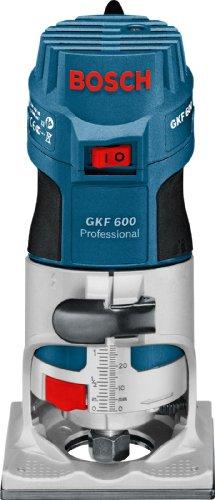 Bosch Professional Affleureuse GKF 600 (600W, Ø pince de serrage 6 mm / 8 mm, Pack d'accessoires, Coffret)