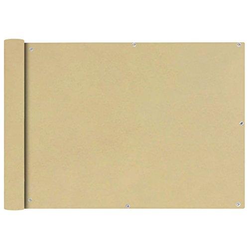 Zora Walter Rectangle Protection de Balcon en Tissu Oxford Beige 75 x 400 cm