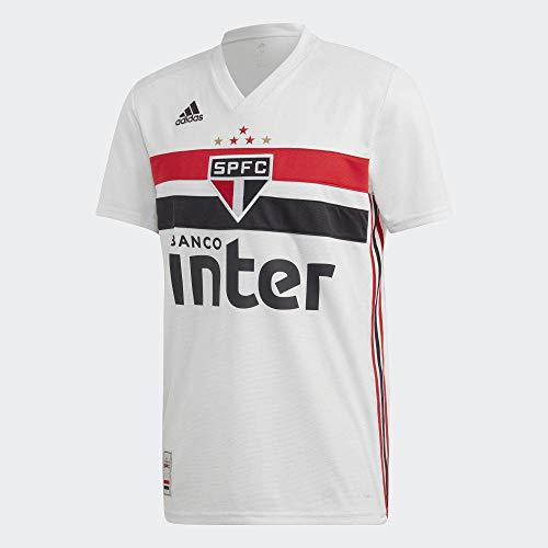 adidas Herren Spfc H JSY Hemd, Weiß/Schwarz/Rot, M