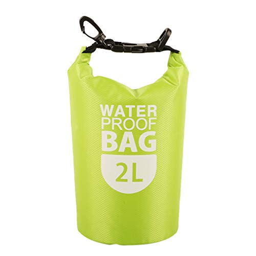 Colcolo Waterproof 2L Bag Sack Bag Waterproof for Diving in - Green