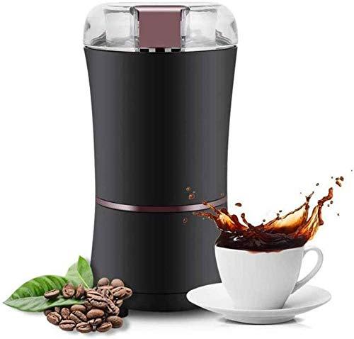 weiwei Moulin à café électrique Fresh Grind 2 oz pour Haricots épices et Plus Lames en Acier Inoxydable Noir