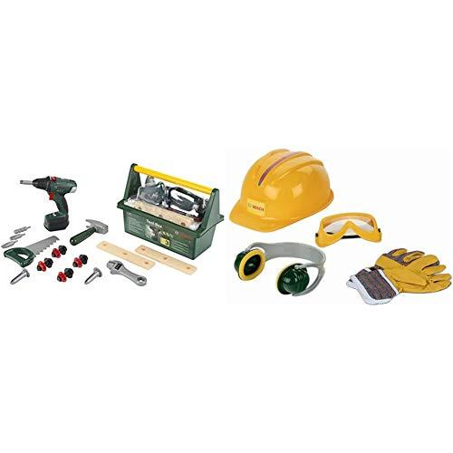 Theo Klein 8520 - Bosch Tool Box mit Akkuschrauber, Baukästen &  Klein - BOSCH 8537 - Accessories Set, 4 pieces, Spielzeug