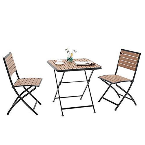 FJPAIPP Mesa de Muebles de jardín al Aire Libre Plegable Bistro y sillas Altas