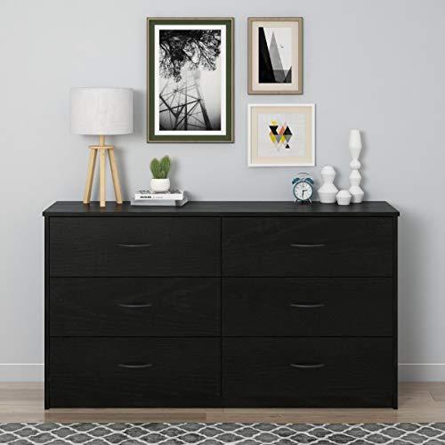Mainstays Drawer Dresser, (6-Drawer, Nightfall Oak)