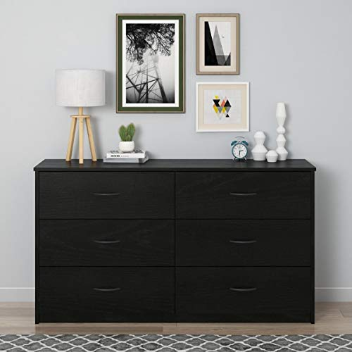 Mainstays Drawer Dresser, (6-Drawer, Nightfall Oak)