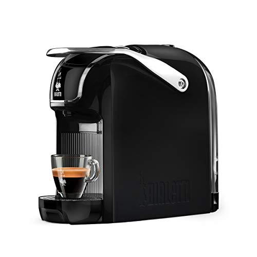 Bialetti Break Espressomaschine mit Kapseln, aus Aluminium, kompaktes Design, Schwarz