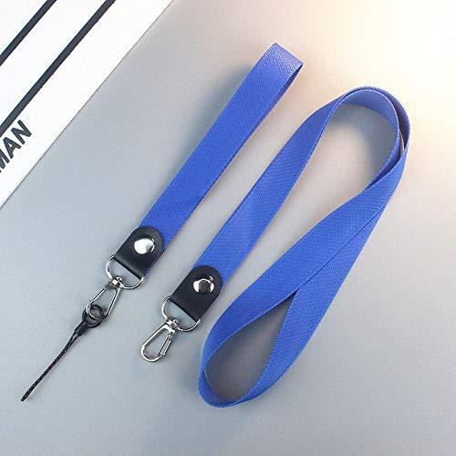 Cordón del sostenedor de la correa de muñeca del cuello del teléfono celular para el encanto de la cadena del teléfono inteligente del cordón de las llaves, azul, China