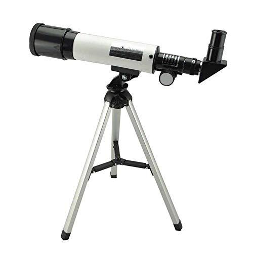 HUATXING Telescopio astronómico refracción 360X50 con el Cielo trípode portátil monocular Telescopio Espacial Observación Ámbito Regalo