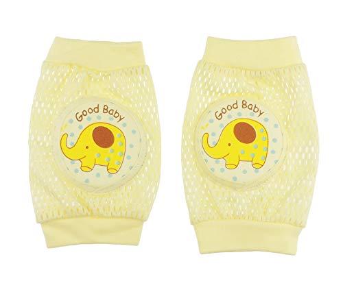 Glamour Girlz Kleinkind Kind Mädchen Jungen Süßes Tier Gepolstertes Knie Krabbeln Schutzpolster (Gelber Elefant)