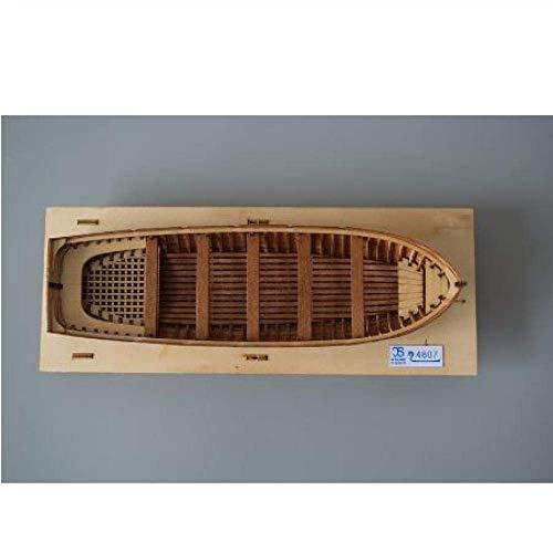 JHSHENGSHI Modelo de Barco Decoraciones para Sala de Estar Modelo de velero químico 1/48 Kits de Modelo de Bote Salvavidas de Madera Maciza Modelo de Bote Salvavidas de Lanzamiento para Regal