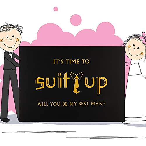 8 Pieces Groomsmen Proposal Cards 7 Pieces Will You Be My Groomsman Funny Cards and 1 Piece Will You Be My Best Man Card with Envelopes for Wedding Supplies, 5 x 7 Inch Photo #2