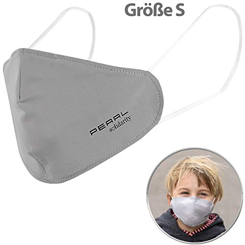 PEARL Mundschutzmaske: Mund-Nasen-Stoffmaske mit Nanofilter, 98,9%, waschbar, Größe S (Mundschutz Größe s)
