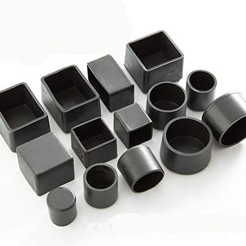4 Stuks Antislip Black Stoelpoot Caps Siliconen Vloer Beschermer Pads Ronde 16mm, Tafel Voetovertrek Sokken Meubilair Gat Stekkers Decor (Color : 15mm X 30mm)