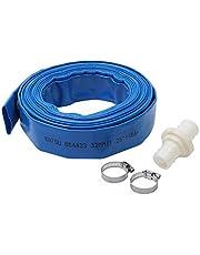 """KATSU platte ontlading waterslang waterpomp irrigatie (blauw 1,25 """"10M)"""
