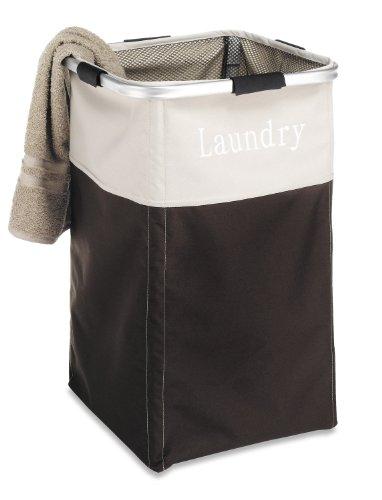 Whitmor Easy Care Laundry Hamper - Espresso