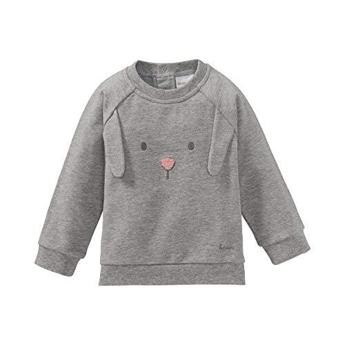 Bornino Sweat-shirt à manches longues lapin T-shirt bébé vêtements bébé, gris chiné