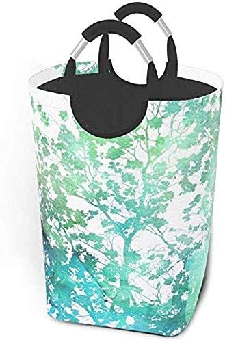 XCNGG Cesta de lavandería Plegable con Textura de árboles de Acuarela, Bolso Grande para Dormitorio, baño, guardería de bebé, Organizador de Juguetes
