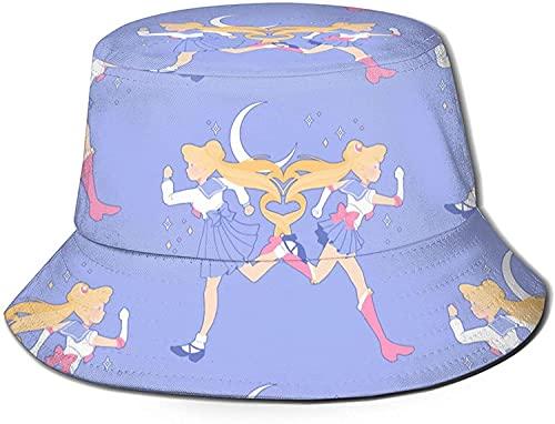 KEROTA Sombreros de pescador para exteriores de verano en colores pastel góticos, gorras de sol para niños, color negro