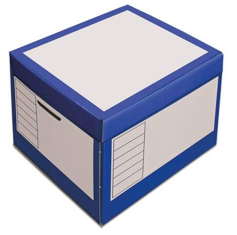 pressel Caja y organizador, 43L, wellp, tapa, 41x 35x 30cm, I: 39x 33x 29cm, color azul
