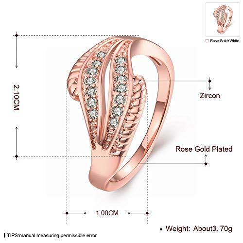 Mini-ring vrouwen Romantische bal Zirkoon Koper Geometrische dubbele laag Ring K Goud Zirkoon Japan en Korea Pop Sweet Art Damesring