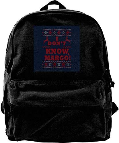 Yuanmeiju Zaino di tela National Lampoons Vacanze di Natale Margo Modello di maglia natalizia Zaino Palestra Escursionismo Borsa a tracolla per laptop Zainetto per uomo Donna