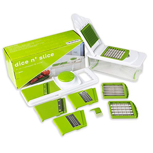 Dice n Slice Vegetable Chopper and Slicer Kitchen Gadget with Grater Mandoline and More