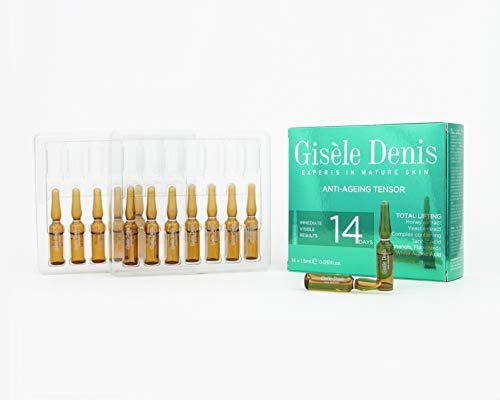Gisèle Denis - Pack de Ampollas Faciales Total Lifting, Tensor, Antiedad, Cuidado Facial, Hidratante, Efecto Flash, 14 x 1'5 ml