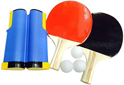 Best Review Of Stickers Portable Ping Pong Sets, Retractable Table Tennis Nets with 2 Bats and 3 Bal...