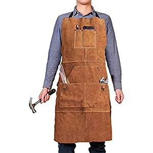 QeeLink Leather Work Shop Apron 20
