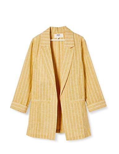 ONLY Damen ONLPALOMA-Canyon Stripe Life TLR Blazer, Golden Spice, 40