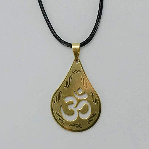 N-G Necklace Pendant Necklaces for Women/Men Gold Color Hindu Buddhist Hinduism Jewelry India Yoga Gifts