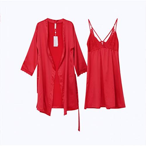 FLORVEY Pijama Pijamas de otoño para Pijamas de Pareja Pijamas Estampados con Letras de Moda Pijamas Estampados Sueltos Ocasionales para Hombres